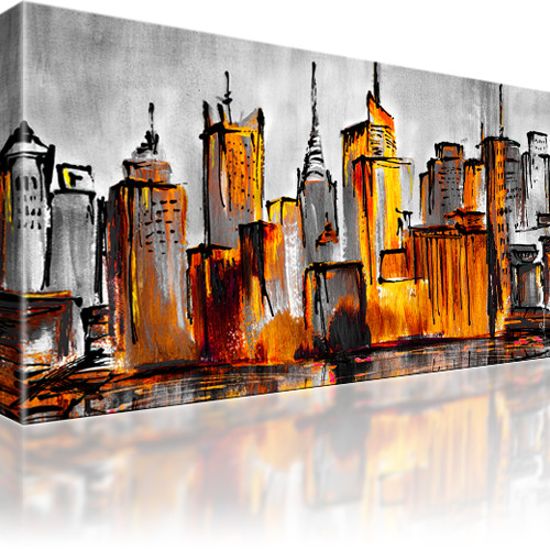 manhattan skyline new york stadt bilder keilrahmenbild leinwand. Black Bedroom Furniture Sets. Home Design Ideas