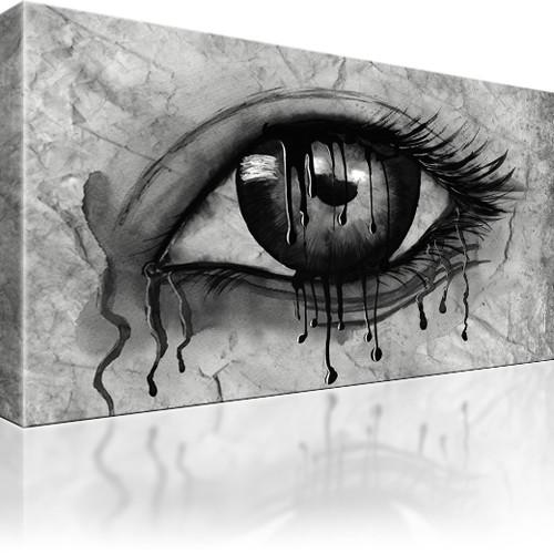auge bilder kunstdruck auf leinwand wandbild ebay. Black Bedroom Furniture Sets. Home Design Ideas