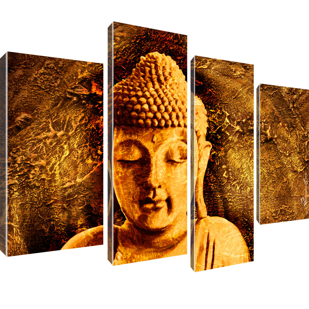 buddha wandbilder bilder auf leinwand buddhismus der erwachte ebay. Black Bedroom Furniture Sets. Home Design Ideas