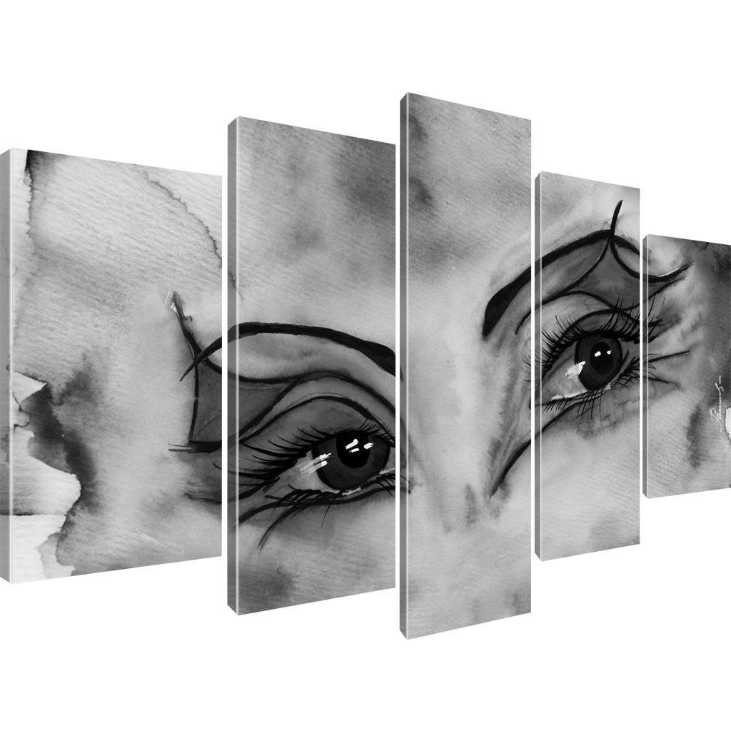 bilder augen abstrakt aquarell bilder wandbilder auf. Black Bedroom Furniture Sets. Home Design Ideas