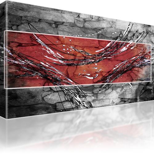 abstraktion streifen bilder auf leinwand kunstdruck ebay. Black Bedroom Furniture Sets. Home Design Ideas