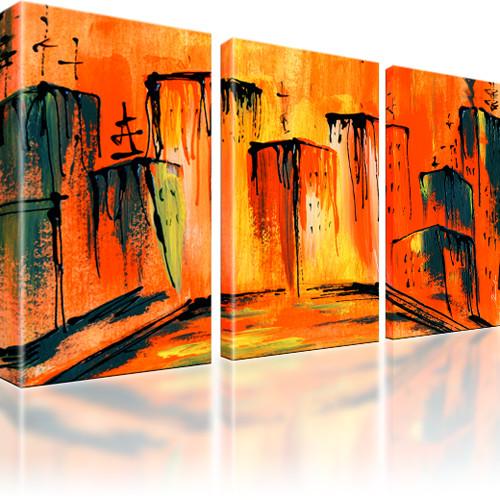 Abstrakte stadt bilder wandbild leinwand ebay - Abstrakte bilder leinwand ...