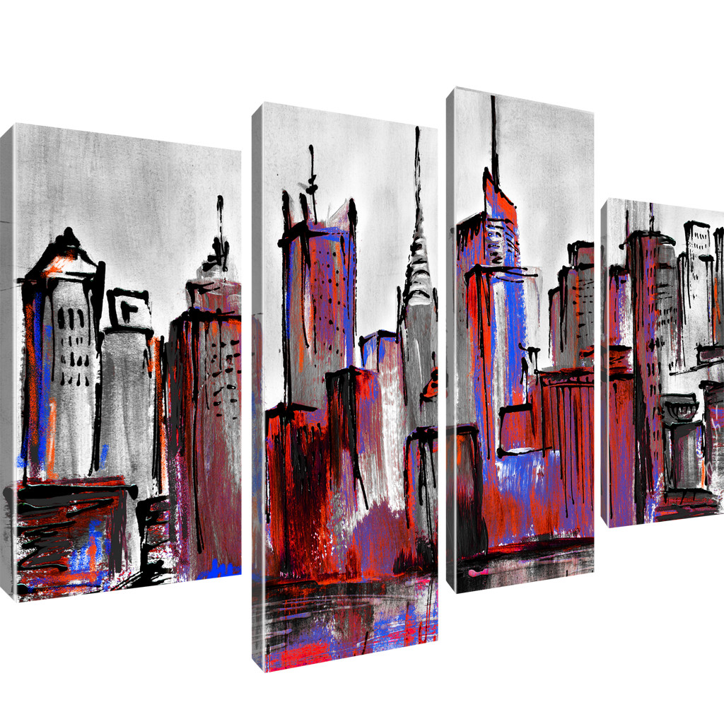 manhattan skyline new york stadt bilder keilrahmenbild. Black Bedroom Furniture Sets. Home Design Ideas